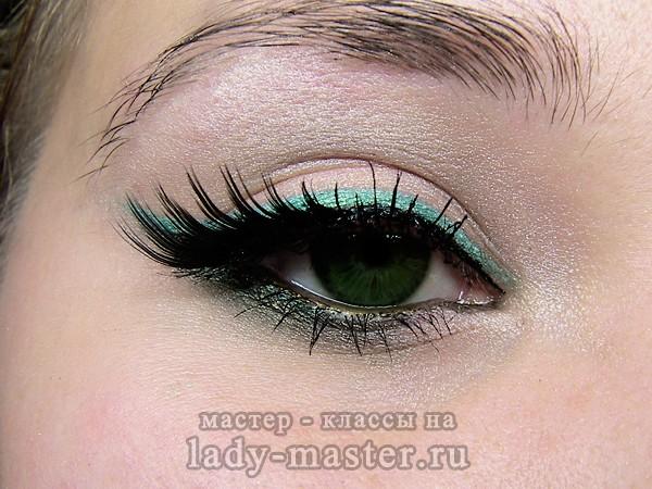 красивый макияж для зеленых глаз, фото