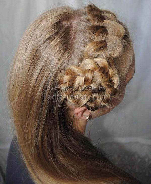 причёска ободок из волос, фото