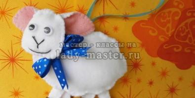 Елочная игрушка – овечка