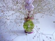 Ваза и цветок из подручного материала