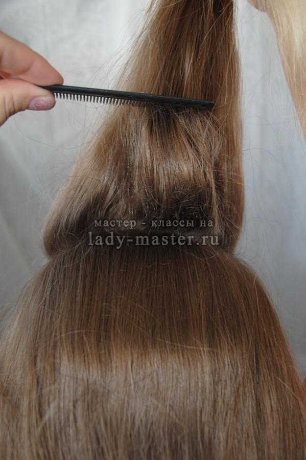 Как делать начес на короткие волосы 14