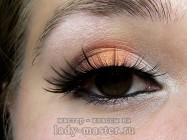 Оранжевый свадебный макияж