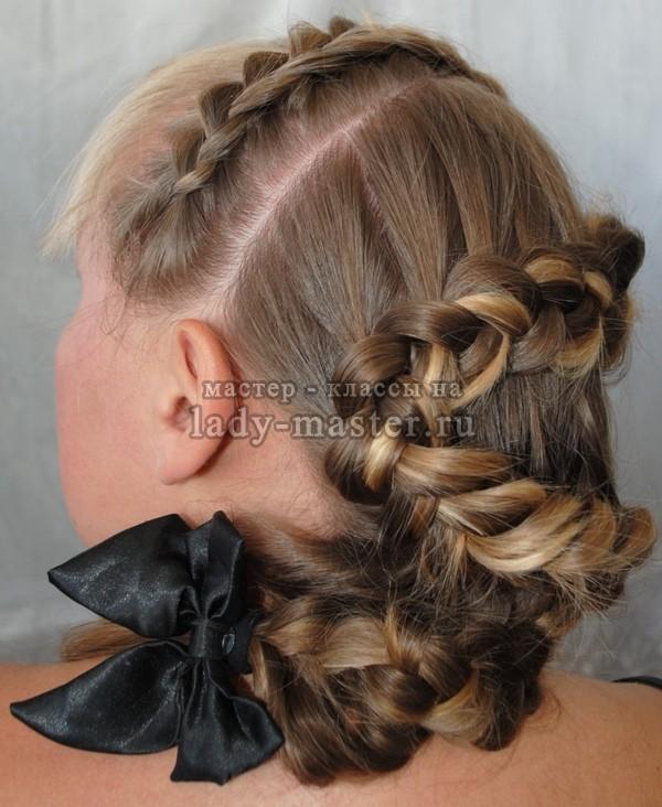 как сделать причёску змейку, фото