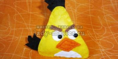 Украшение для волос «Желтая сердитая птичка»