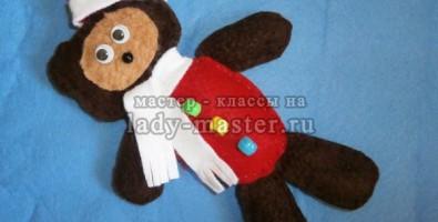 Елочная игрушка – медвежонок