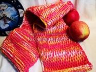 Модный шарф, связанный тунисским крючком — пошаговый урок