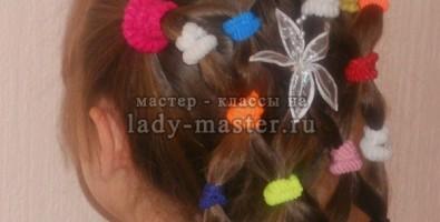 Прическа для девочки из резинок для волос