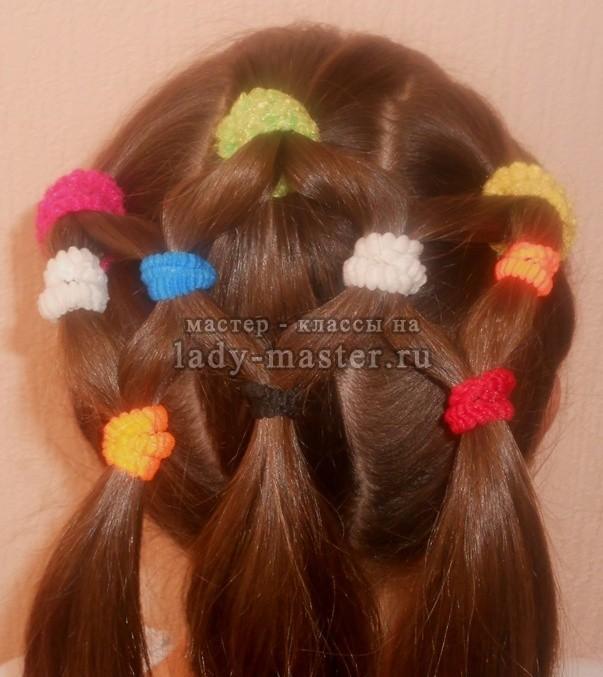 Причёски с резинками для девочек