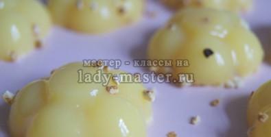 Апельсиновое желе для душа со сливками