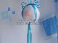 Елочная игрушка «Снежный шар»