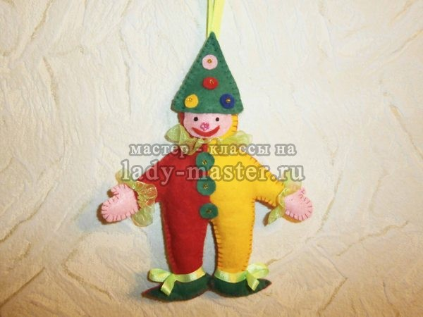 Елочная игрушка «Клоун»