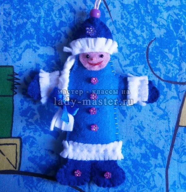 Елочная игрушка «Снегурочка»