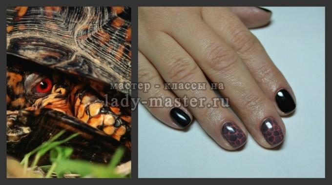 маникюр рептилии, фото