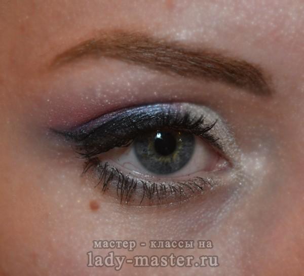 Свадебный макияж в розово - голубых тонах, фото