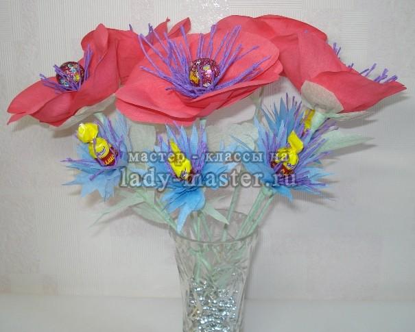 Поделки с обертки от цветов