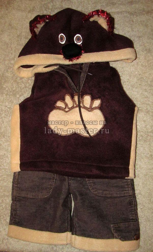 костюм медвежонка для мальчика, фото