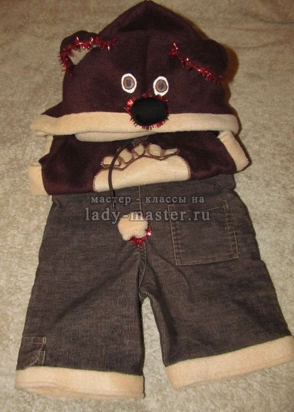 костюм медвежонка для малыша, фото