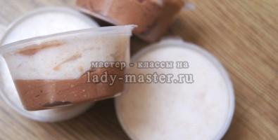 Миндально-шоколадный мыльный скраб
