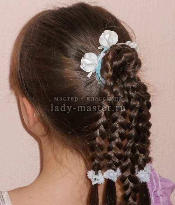 Косички из резинок для волос пошагово фото