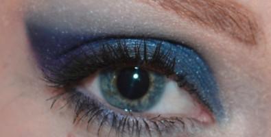 Новогодний смоки айс в синих тонах