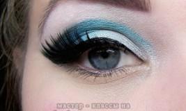 Как сделать красивый новогодний макияж в синих тонах