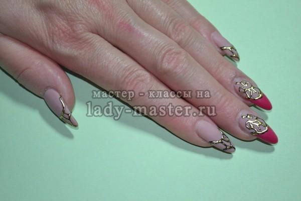 фото на и камни литье жидкие ногтях