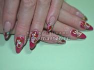 Дизайн «Золотое литье на ногтях»