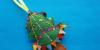 Новогодняя игрушка «Елочка»