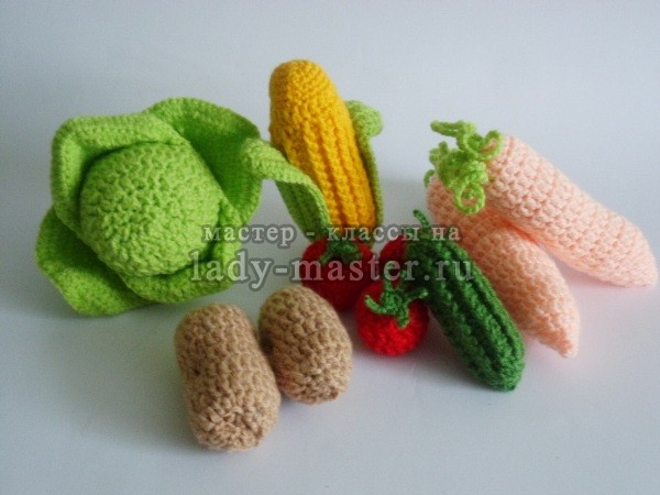 овощи связанные крючком, фото