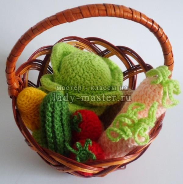 вязаные овощи крючком, фото