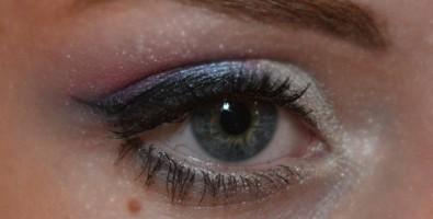Трехцветный свадебный макияж