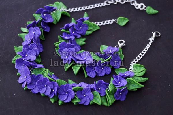 цветочный комплект из полимерной глины, фото