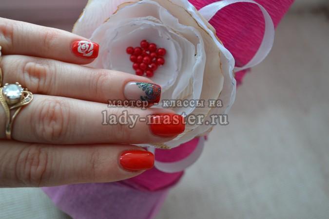 розы маникюр фото