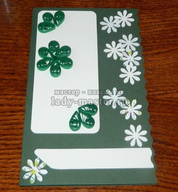 Свадебная поздравительная открытка своими руками фото 5