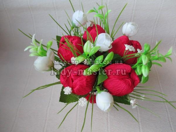 Делаем тюльпаны своими руками