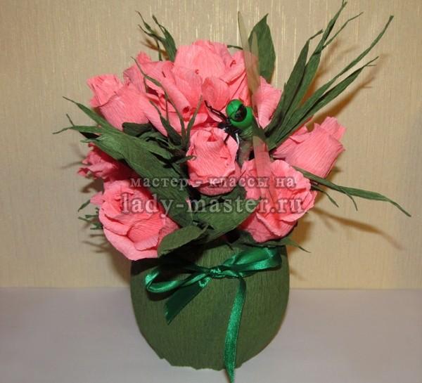 розы из конфет своими руками, фото