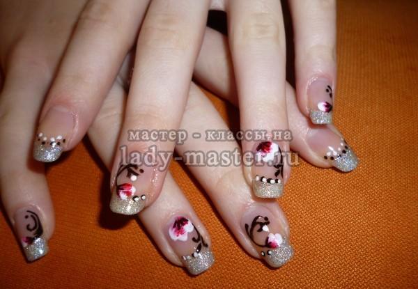 дизайн ногтей с цветами, фото