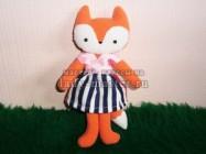 Мягкая игрушка «Лисичка-модница»