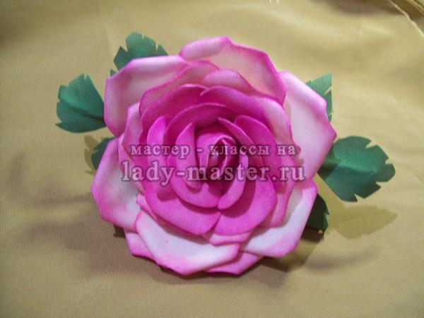 цветок из фоамирана мастер класс, фото