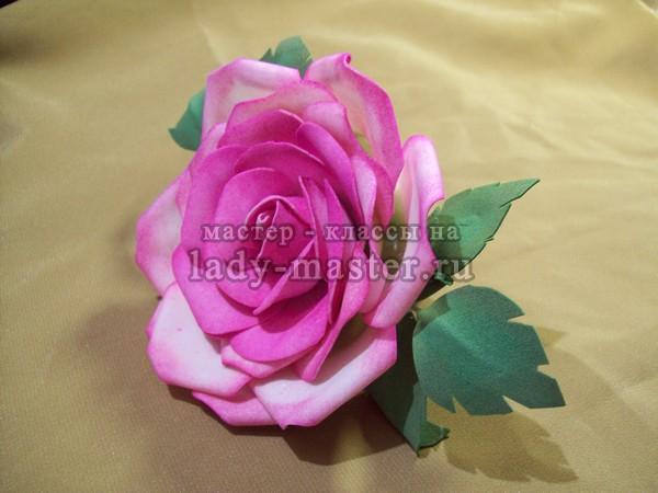 роза из фоамирана мастер класс, фото