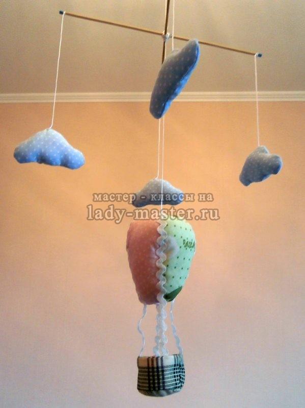Подвеска для детской комнаты: «Воздушный шар»