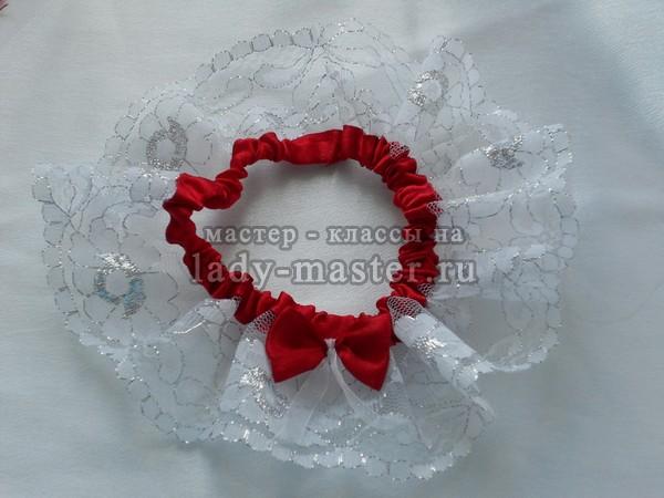 подвязка невесты своими руками, фото