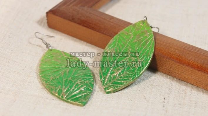 Листья из полимерной глины, фото