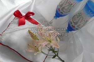 Подвязка невесты и подушечка для колец своими руками