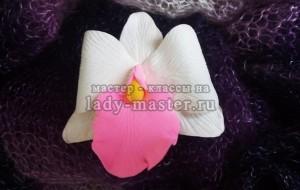 Брошь-заколка для волос «Орхидея»