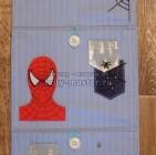 Кармашки для шкафчика в детский сад «Человек Паук»