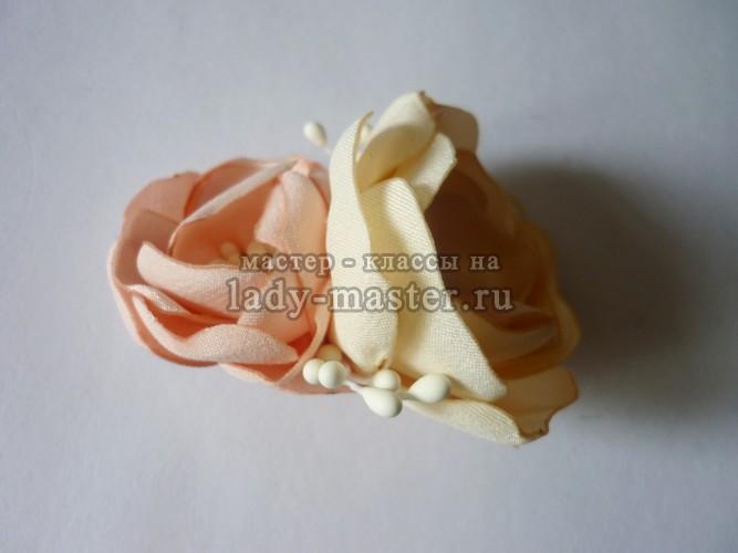 Заколка для волос из атласной ткани, фото