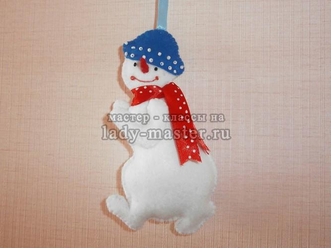 игрушка снеговика своими руками, фото