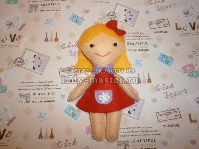 Куколка из фетра, фото