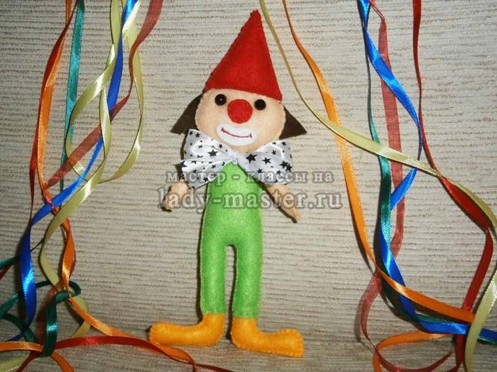 Мягкая игрушка «Веселый клоун»
